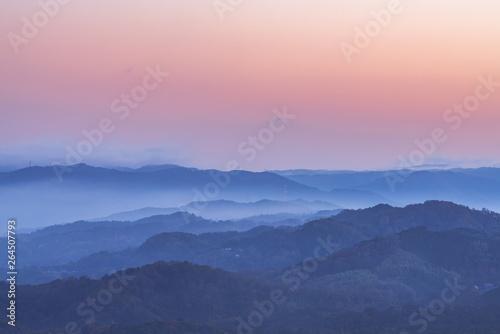 Canvas-taulu 朝を待つ若草山からの風景 -奈良-