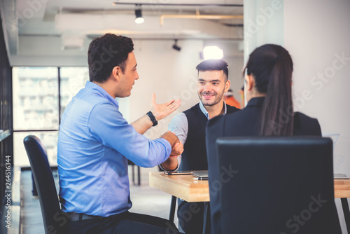 Fototapety, obrazy: Businesspeople discussing together in conference room during meeting at office.