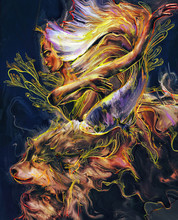 Nature's Dance With Wolves And Fish