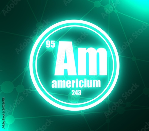 Americium chemical element Canvas Print