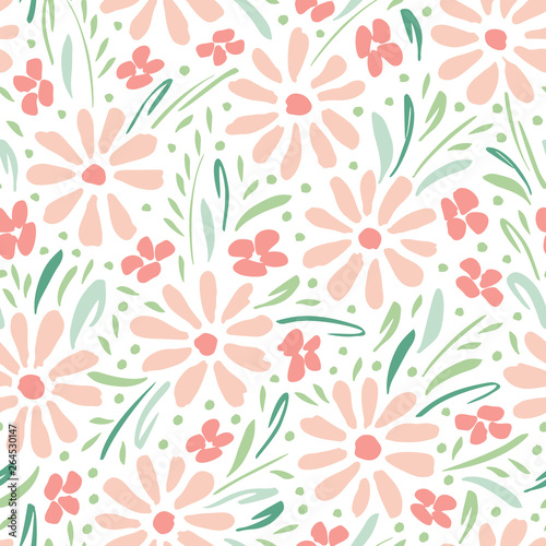 pastel-colored-hand-painted-daisies-on-white-background-vector-seamless-pattern-delicate-spring