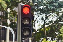 Red Traffic Signal Signal. Sin...