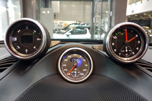 Interior Details Of A Sports C...