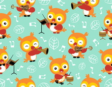 Seamless Pattern Vector With O...