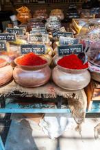 Herbs And Spices Sold In Shuk Hacarmel Market, Tel Aviv, Israel
