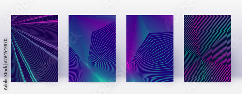 Fototapety, obrazy: Art business card. Abstract lines modern brochure