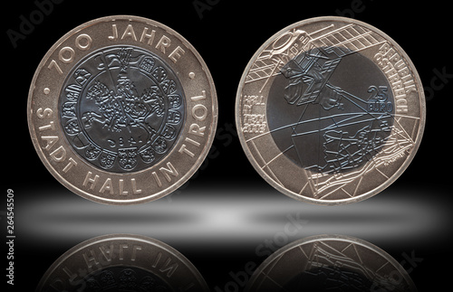 Tela Austria silver niob coin 25 twenty five euros minted 2003