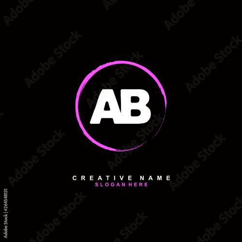 Fotografía  A B AB Initial logo template vector. Letter logo concept