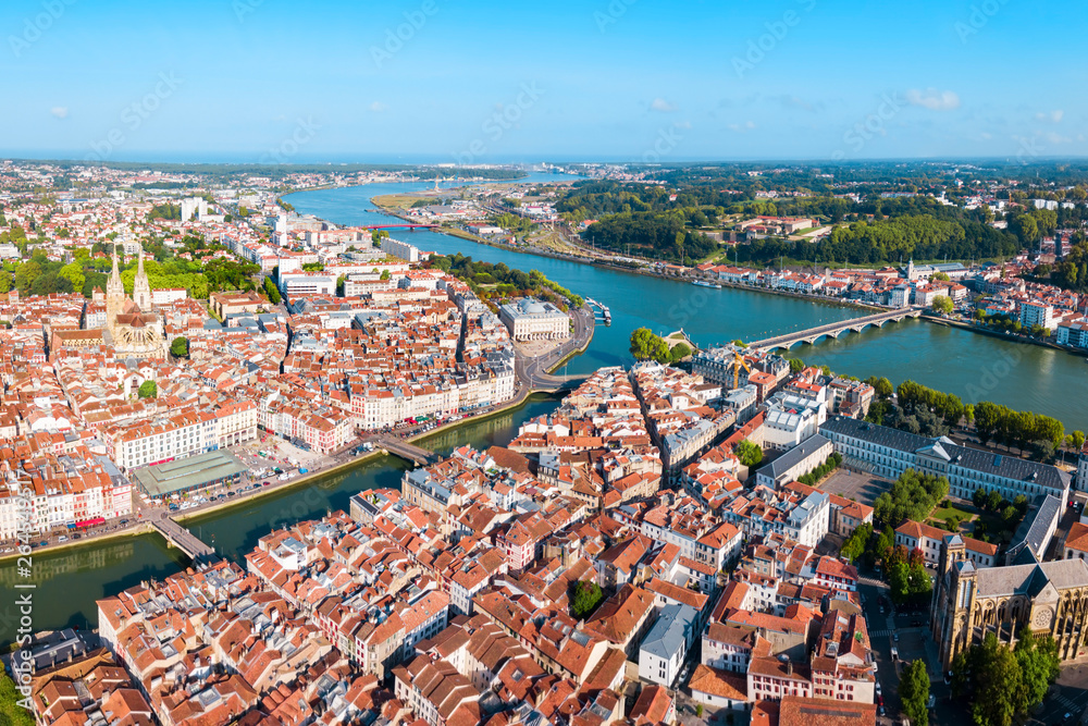 Fototapety, obrazy: Bayonne aerial panoramic view, France
