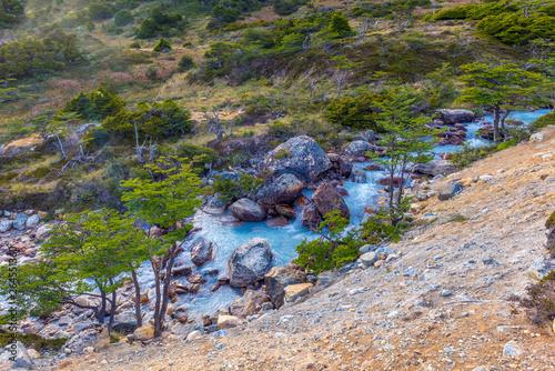 River near Laguna Esmeralda in Tierra del Fuego