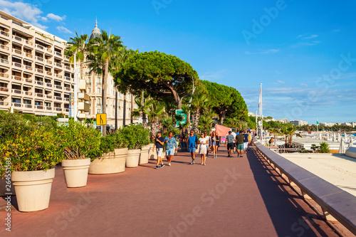 Promenade Croisette Boulevard in Cannes Canvas Print