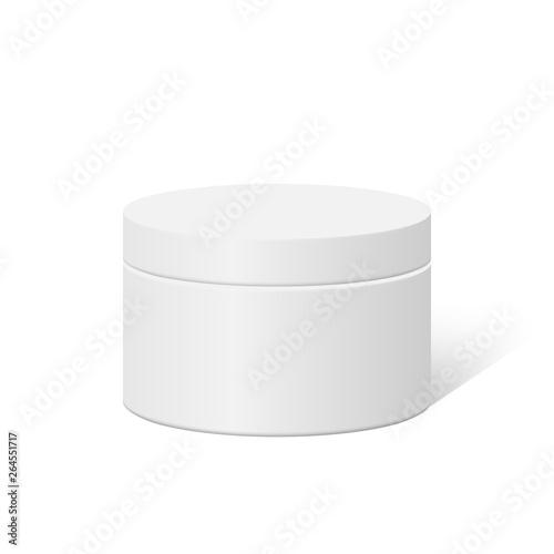 Plastic round container box Fototapeta