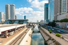 Ayalon Highway And Tel Aviv Savidor Central Railway Station, Tel Aviv, Israel