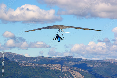 Canvas Prints Sky sports Hang Glider on the Chabre mountain, France