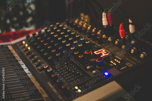Digital technology board panel sound audio music mixing