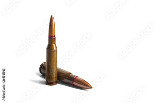 Fotografija Two old bullets for automatic rifles of 5