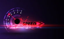 Speed Motion Background With F...