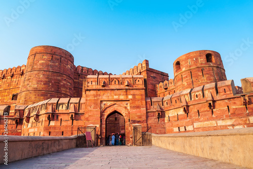 Photo Historical Fort in Agra, India