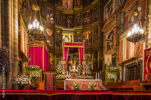 Fotografie, Obraz  Królewski klasztor Santa Maria de Guadalupe, prowincja Caceres, Hiszpania
