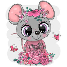 Greeting Card Cartoon Mouse Wi...