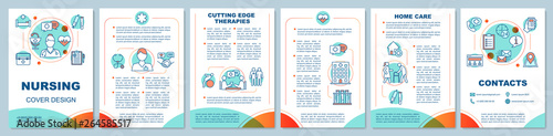 Nursing brochure template layout Canvas