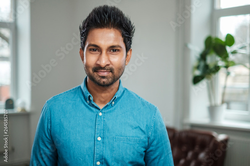 Indian man at a casting Canvas Print