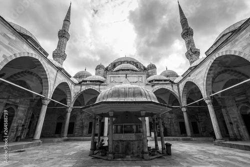 Fényképezés  Man performs ritual washing before prayers, Fatih Mosque, IStanbul