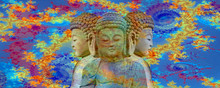 Abstract Buddha And The Cosmos