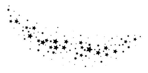 Magic stardust trail. Falling star.