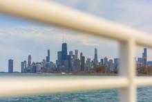 Chicago Skyline Through A Man Made Frame