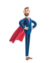 3d Illustration.Businessman Billy Clothed Like A Superhero.