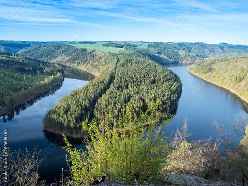 Obraz na plátně Saaleschleife in Thüringen