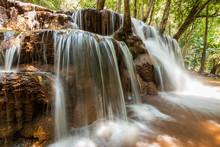 Pa Wai Waterfall In Summer Season, Phop Phra, Tak, Thailand