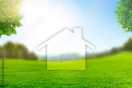 Slika na platnu Grundstück als Bauland
