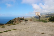 Abandoned Basketball Court And...