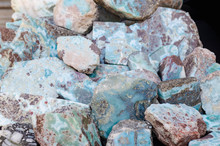 Larimar Raw Precious Stone, Which Can Only Be Obtained In The Dominican Republic In The Barahona Region