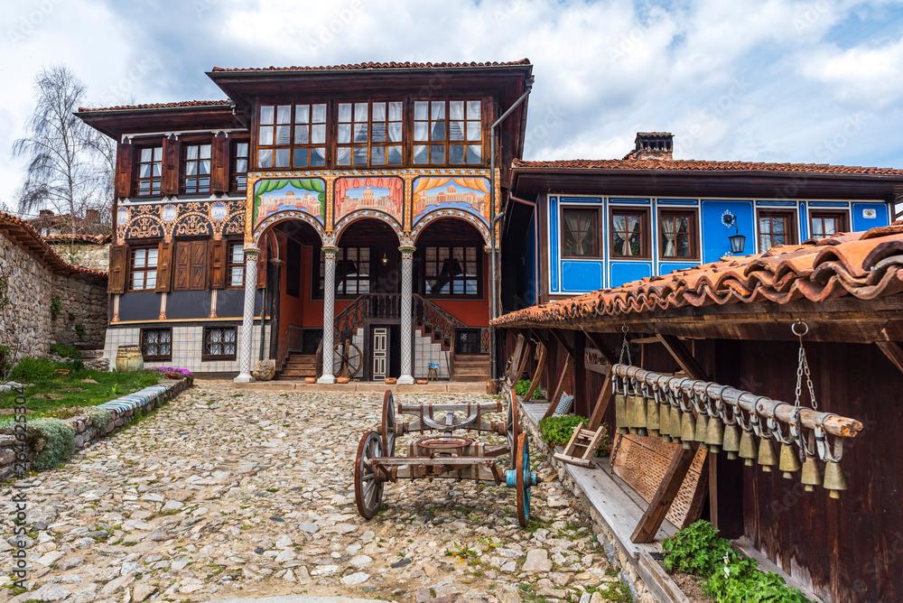 Fototapety, obrazy: View form the Oslekova house museum in the Koprivshtitsa village , Bulgaria