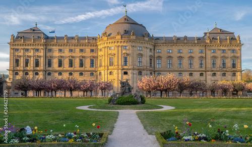 Würzburg Residenz Frühling Fototapete
