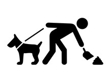Clean After Your Dog Vector Pictogram