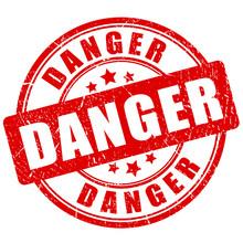 Danger Grunge Vector Stamp