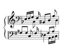 Music Notes Cartoon, Abstract ...