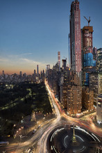 Residential Towers On Central Park In New York City