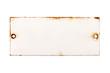canvas print picture - Altes Türschild aus Emaille ohne Beschriftung, isoliert auf weißem Hintergrund