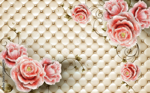 background with floral design  - 264638129