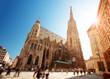 Leinwanddruck Bild - View to St. Stephen's Cathedral in Vienna, Austria