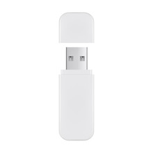USB Flash Drive With Cover Isolated On White Background. Vector Illustration
