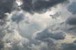 Leinwandbild Motiv Dark and dramatic storm clouds