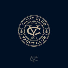 Y And C Monogram. Logo Yacht C...