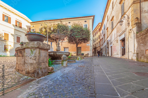 Anagni (Italy) - A little medieval city in province of Frosinone, famous to be the City of the Popes; it has long been the residence of the Pope of Rome Tablou Canvas