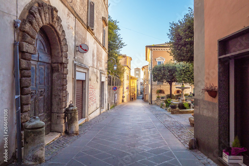 "Anagni (Italy) - A little medieval city in province of Frosinone, famous to be the ""City of the Popes""; it has long been the residence of the Pope of Rome. Here the historic center."